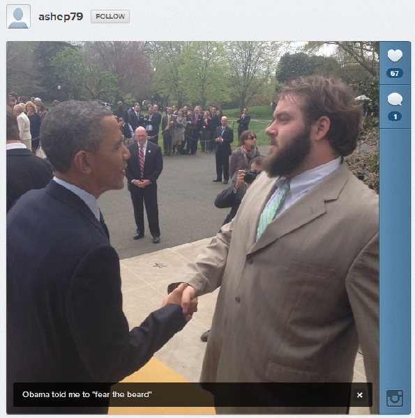 Austin Shepherd and President Obama
