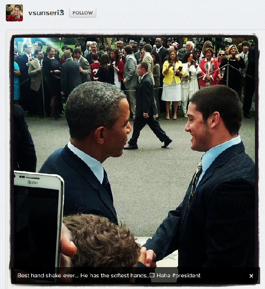 Vinnie Sunseri and President Obama