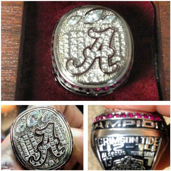 Alabama 2013 national championship ring